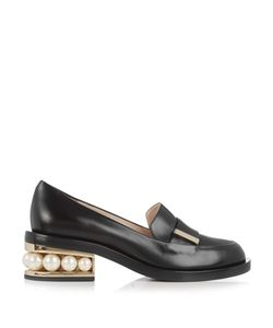 Nicholas Kirkwood | Casati Pearl-Heeled Leather Loafer