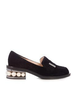 Nicholas Kirkwood | Casati Pearl-Heeled Velvet Loafers