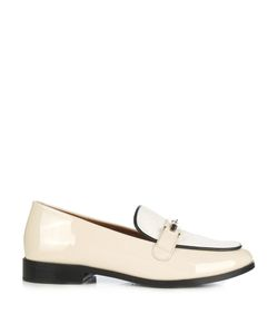 Newbark | Melanie Patent-Leather And Calf-Hair Loafers