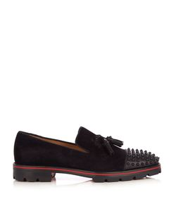 Christian Louboutin | Rossini Spike-Embellished Suede Loafers
