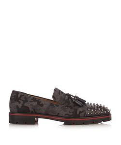 Christian Louboutin | Rossini Camouflage-Print Felt Loafers