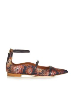 MALONE SOULIERS | Robyn Point-Toe Jacquard Flats