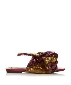 No. 21 | Bow-Front Sequin Slides