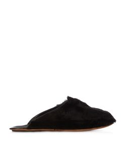 ARMANDO CABRAL | Fur-Trimmed Leather Slippers