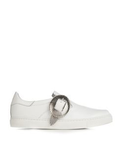 Toga | Buckle Low-Top Leather Trainers