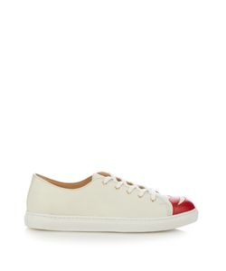 Charlotte Olympia | Kiss Me Low-Top Leather Trainers