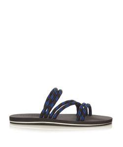 DANWARD | Bi-Colour Asymmetric Strap Sandals
