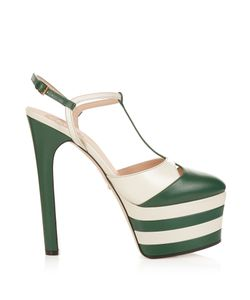 Gucci | Angel Leather Striped Platform Sandals