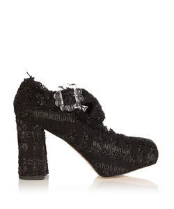 Simone Rocha | Tweed Cross-Strap Block-Heels