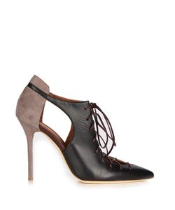 MALONE SOULIERS | Montana Suede And Leather Pumps
