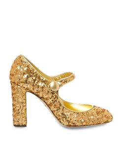 Dolce & Gabbana | Block-Heel Sequin Pumps