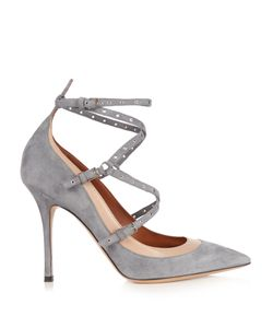 Valentino | Love Latch Suede And Leather Pumps