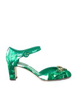 Dolce & Gabbana | Banana-Leaf Print Embellished Pumps
