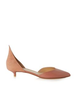 FRANCESCO RUSSO | Snakeskin And Suede Point-Toe Pumps