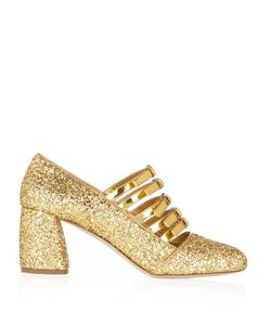 Miu Miu | -Strap Glitter Mid-High Pumps
