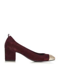 Lanvin | Capped-Toe Suede Pumps