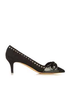 Isabel Marant | Panely Patent Bow Suede Heels