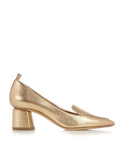Nicholas Kirkwood | Beya Grained-Leather Block-Heel Pumps