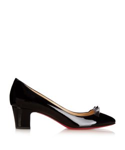 Christian Louboutin | Pyramidame 45mm Patent-Leather Pumps