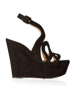 Alexa Wagner | Ayers Cut-Out Suede Wedges