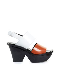 Marni | Tri-Colour Lacquered-Wedge Sandals