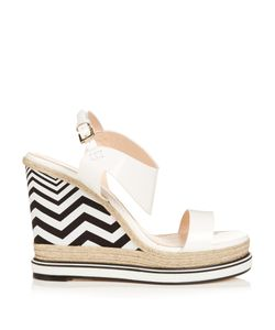 Nicholas Kirkwood | Leda Patent-Leather And Espadrille Wedge Sandals