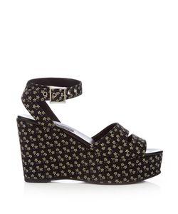 Newbark | Maggie Daisy-Print Wedge Sandals