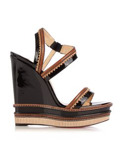 Christian Louboutin | Trepi 140mm Patent-Leather Wedge Sandals