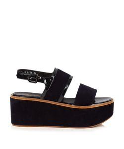 Robert Clergerie | Flavie Suede Flatform Sandals