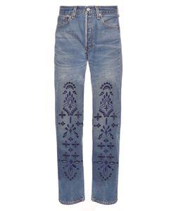 BLISS AND MISCHIEF | Eyelet Bandana Straight-Leg Jeans