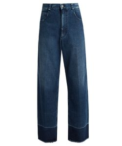 Rachel Comey | Legion Frayed-Edge Wide-Leg Jeans