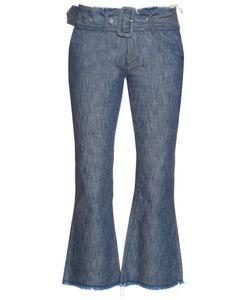 Marques Almeida | Frayed-Edge Flared Cropped Jeans