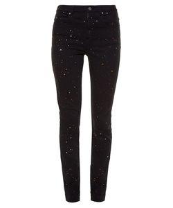 Isabel Marant Étoile | Ennet Paint Splash-Print High-Rise Skinny Jeans
