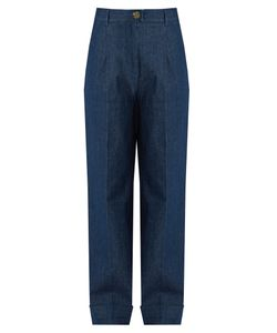 TRADEMARK | High-Rise Wide-Leg Jeans