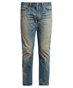 SIMON MILLER | M001 Ishida Distressed Slim-Leg Jeans