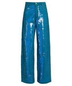 Ashish | Sequin-Embellished Wide-Leg Jeans