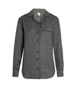 MORPHO + LUNA   Agatha Flannel-Wool Pyjama Shirt