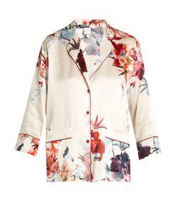 Carine Gilson | Wonderland-Print Silk-Satin Pyjama Top