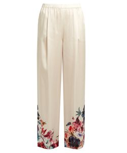 Carine Gilson | Wonderland-Print Silk-Satin Pyjama Trousers