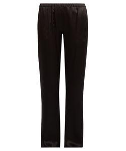 Carine Gilson | Straight-Leg Silk Satin Pyjama Trousers