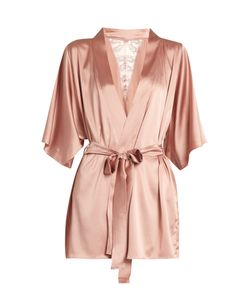 Fleur of England | Sofia Silk-Blend And Lace Robe
