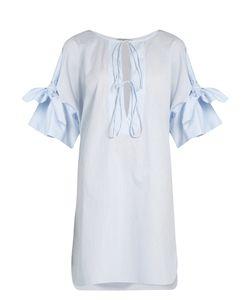 THREE GRACES LONDON   Cephale Striped Cotton Nightdress