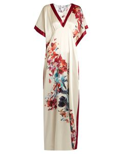 Carine Gilson | Wonderland-Print Silk-Satin Nightdress