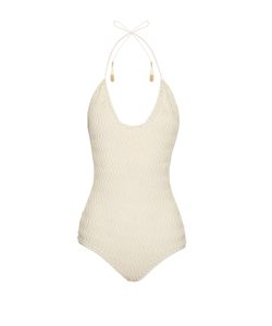 SHE MADE ME | Laharia Chevron Crochet Swimsuit