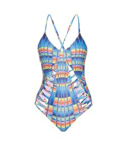 Mara Hoffman | Lattice Ladder Cut-Out Swimsuit