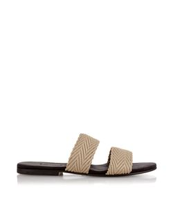Newbark | Roma Iv Raffia And Suede Sandals