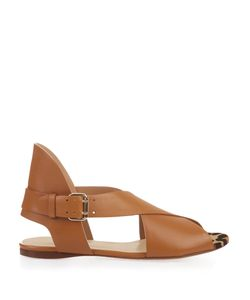 FRANCESCO RUSSO | Peep-Toe Calf-Hair And Leather Sandals