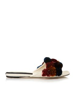 SANAYI 313 | Pompom-Embellished Canvas Slippers