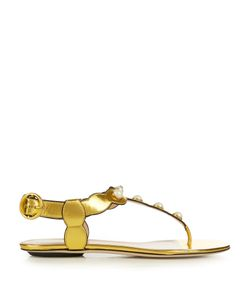 Gucci | Willow Faux-Pearl Embellished Leather Sandals