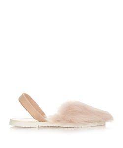 DEL RIO LONDON | Slingback Lamb-Fur Sandals